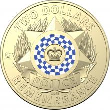 2019 $2 Coloured Uncirculated Coin - National Police Remembrance Day