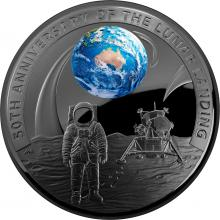 2019 $5 Nickel Plated Fine Silver Proof - 50th Anniversaryof the Moon Landing
