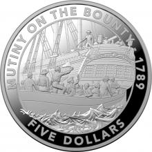 2019 $5 Fine Silver Proof Coin - Mutiny and Rebellion - Mutiny on the Bounty
