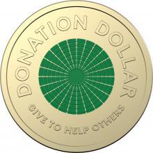 2020 $1 Coloured Circulating Coin - Donation Dollar