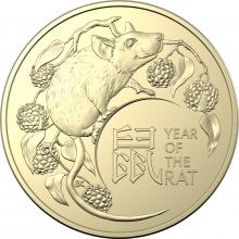 2020 $1 2 coin set Year of the Rat