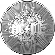 2021 $1 Silver Frosted AC/DC Coin
