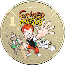 2021 $1 Coloured Uncirculated Ginger Meggs Coin