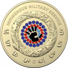 2021 $2 'C' Mintmark Coloured Uncirculated Indigenous Services Coin