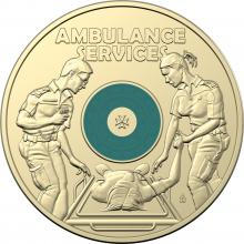2021 $2 Coloured Uncirculated Coin - Ambulance Services