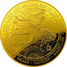 2018 $100 Gold Proof Domed Coin captures the Western Hemisphere