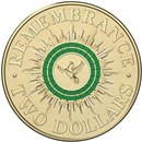 Australian Two Dollar - Remembrance Day Dove